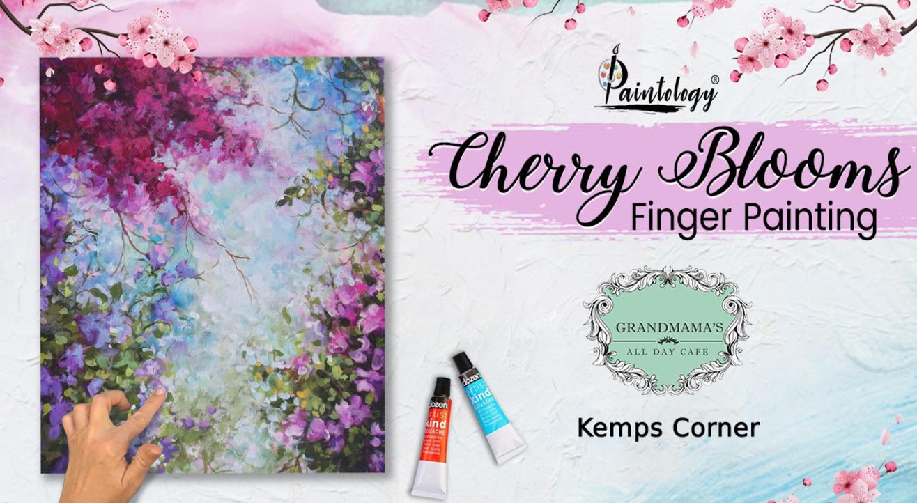 'Cherry Blooms' Finger Painting Workshop , Kemps Corner