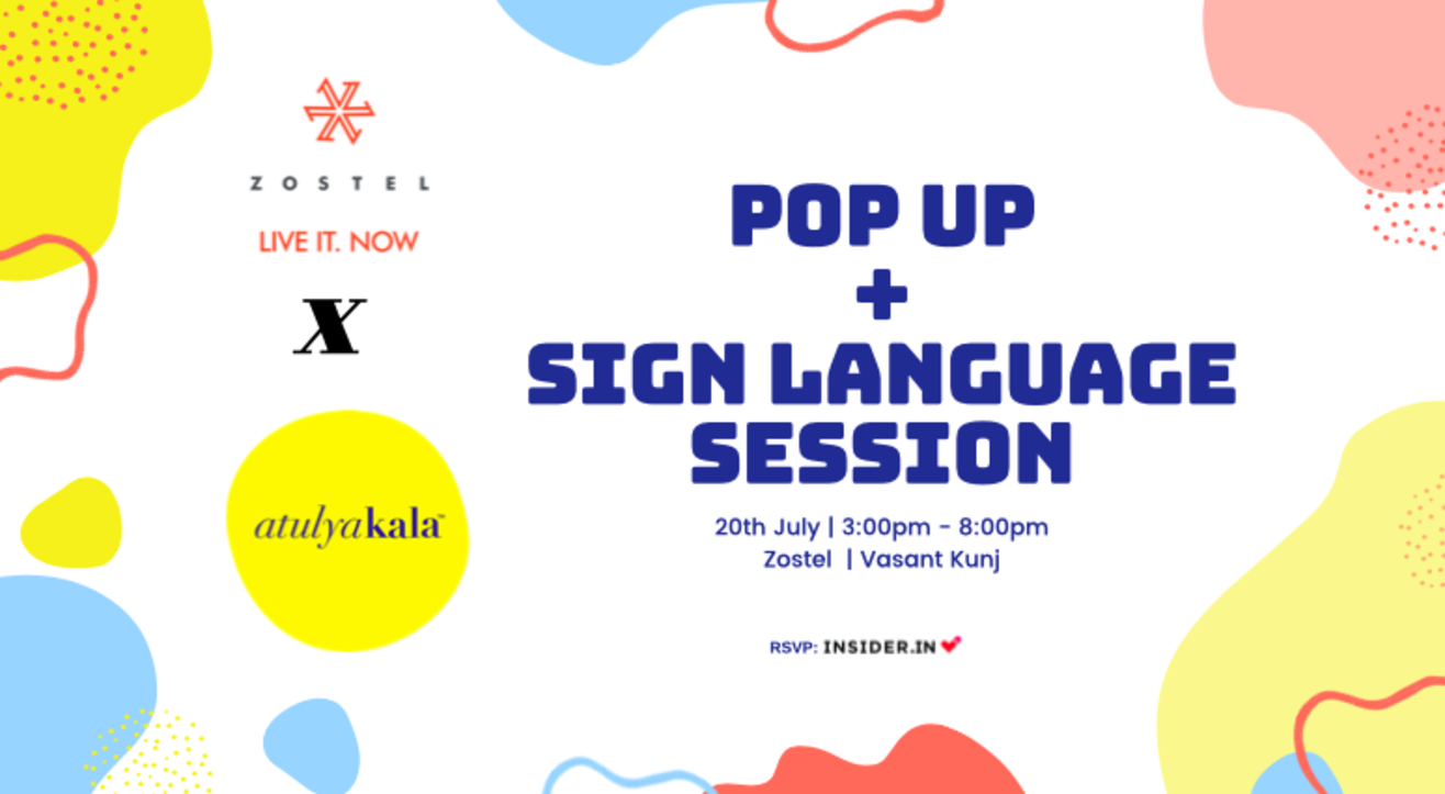 Sign Language session With Atulyakala and a Pop-up!