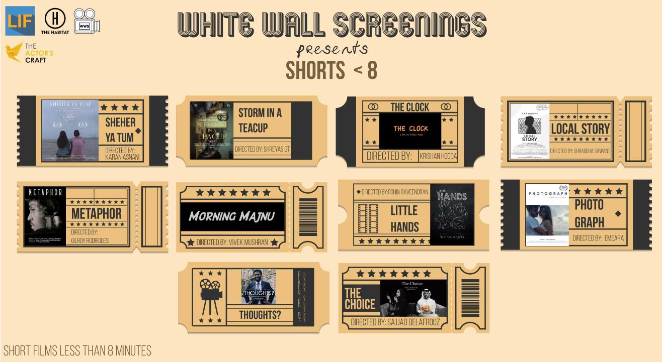 White Wall Screenings presents Shorts < 8