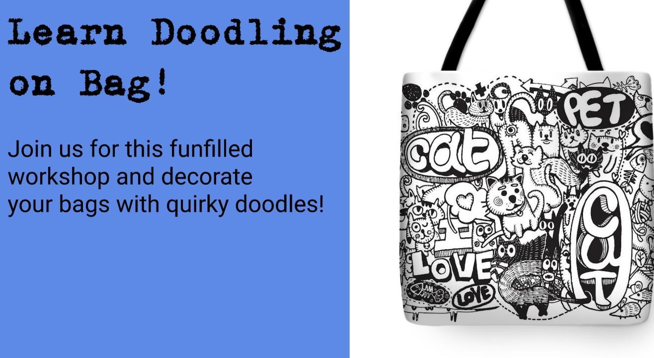 Doodling on Bag: Art Workshop