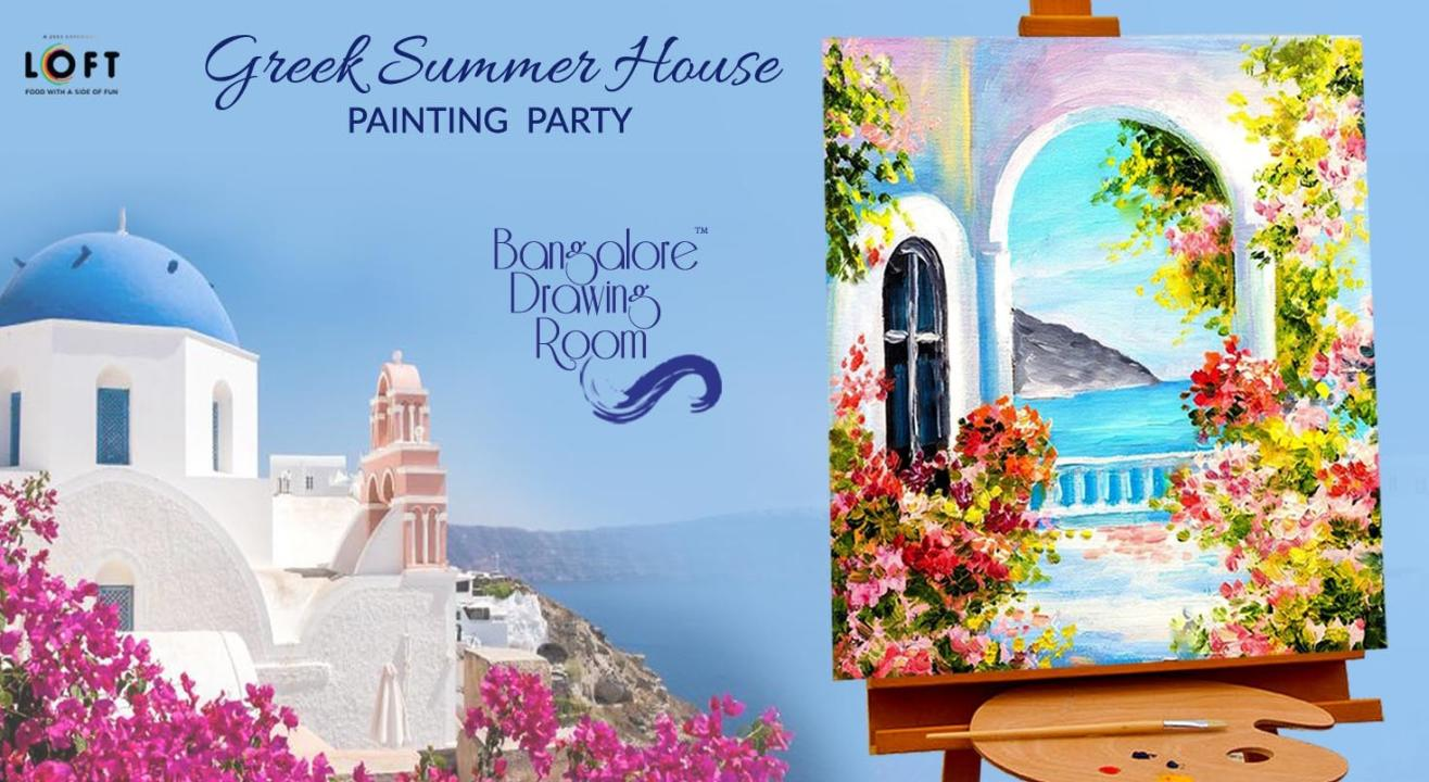 Greek Summer House Painting Party by  Bangalore Drawing Room