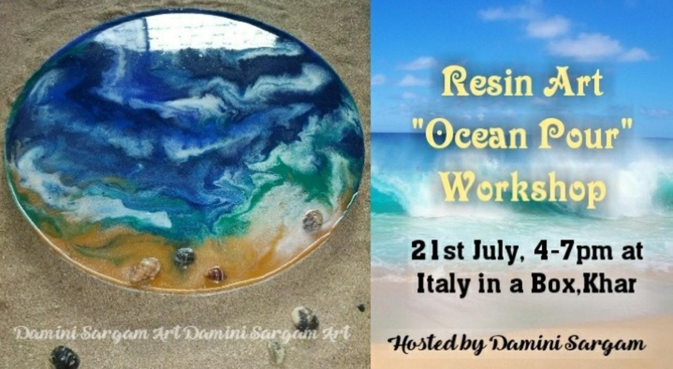"Resin art ""Ocean Pour"" workshop"