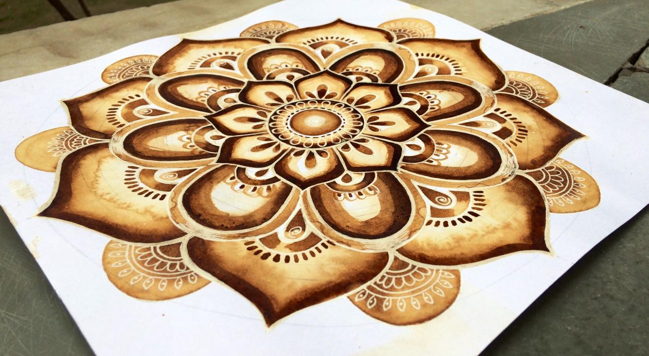 Mandala Coffee Painting