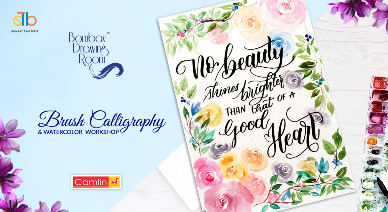Brush Calligraphy & Watercolor Workshop by Bombay Drawing Room