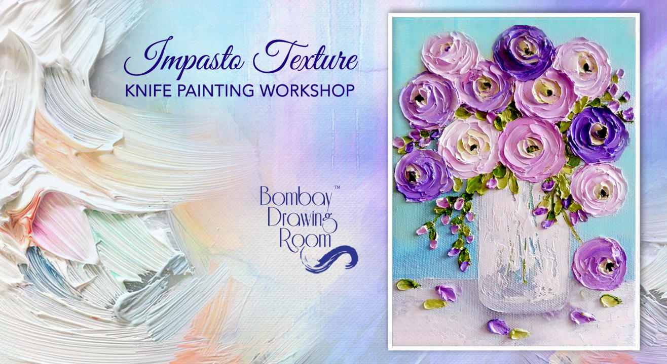 Impasto Texture Knife Painting Workshop by Bombay Drawing Room