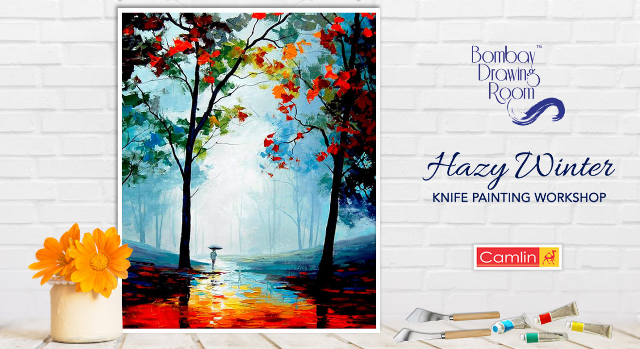 Hazy Winter Knife Painting Workshop by Bombay Drawing Room