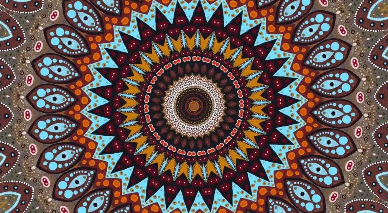 Color Splash Meditative Mandalas