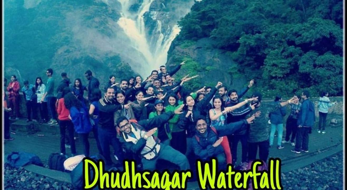 Sumeru Trekkers trek to Dudhsagar Waterfall