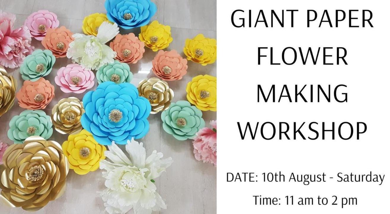 Giant Paper Flower Making Workshop