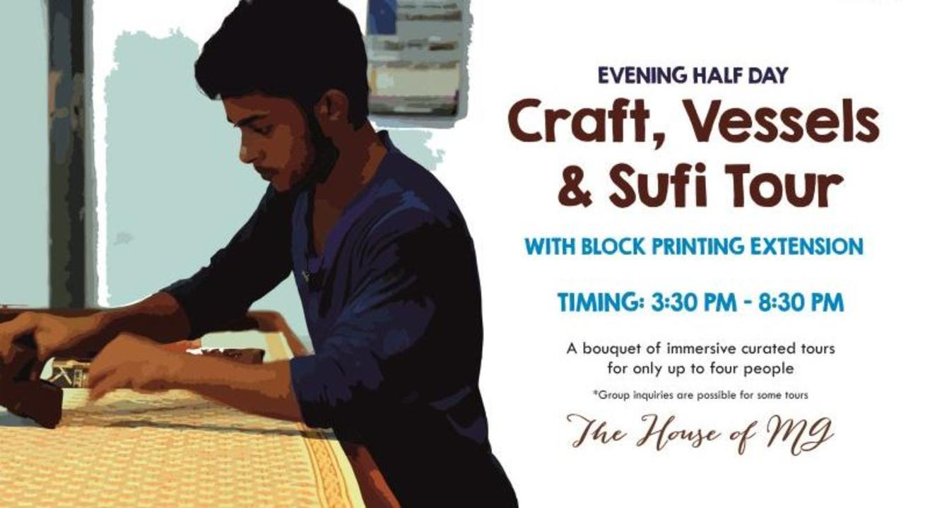 Evening Half Day Craft, Vessel & Sufi Tour With Block Printing Extension