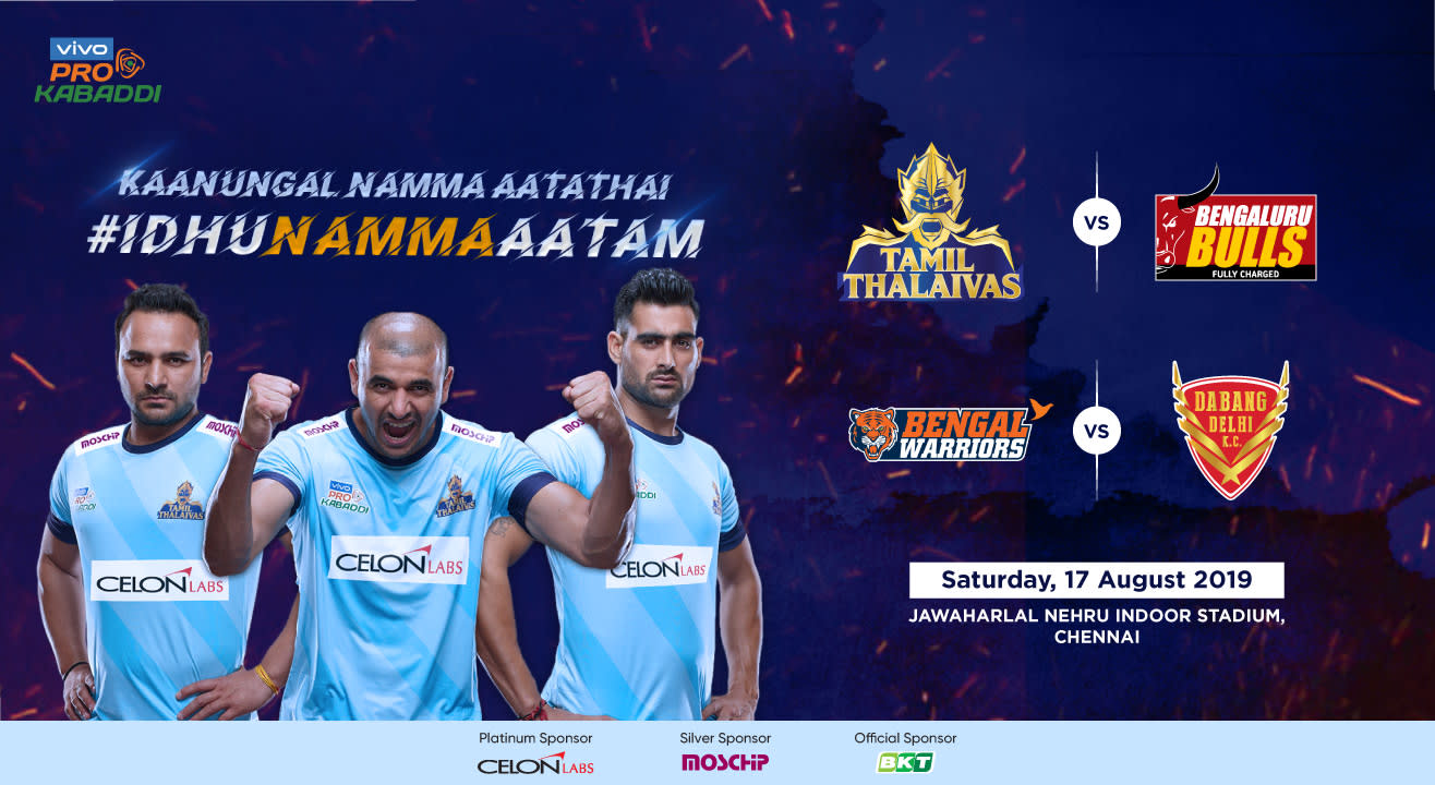 VIVO Pro Kabaddi 2019 - Tamil Thalaivas vs Bengaluru Bulls and Bengal Warriors vs Dabang Delhi K.C.