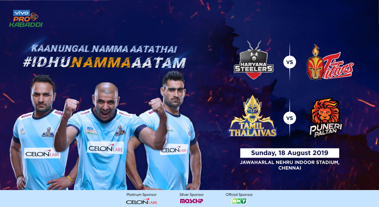 VIVO Pro Kabaddi 2019 - Haryana Steelers vs Telugu Titans and Tamil Thalaivas vs Puneri Paltan