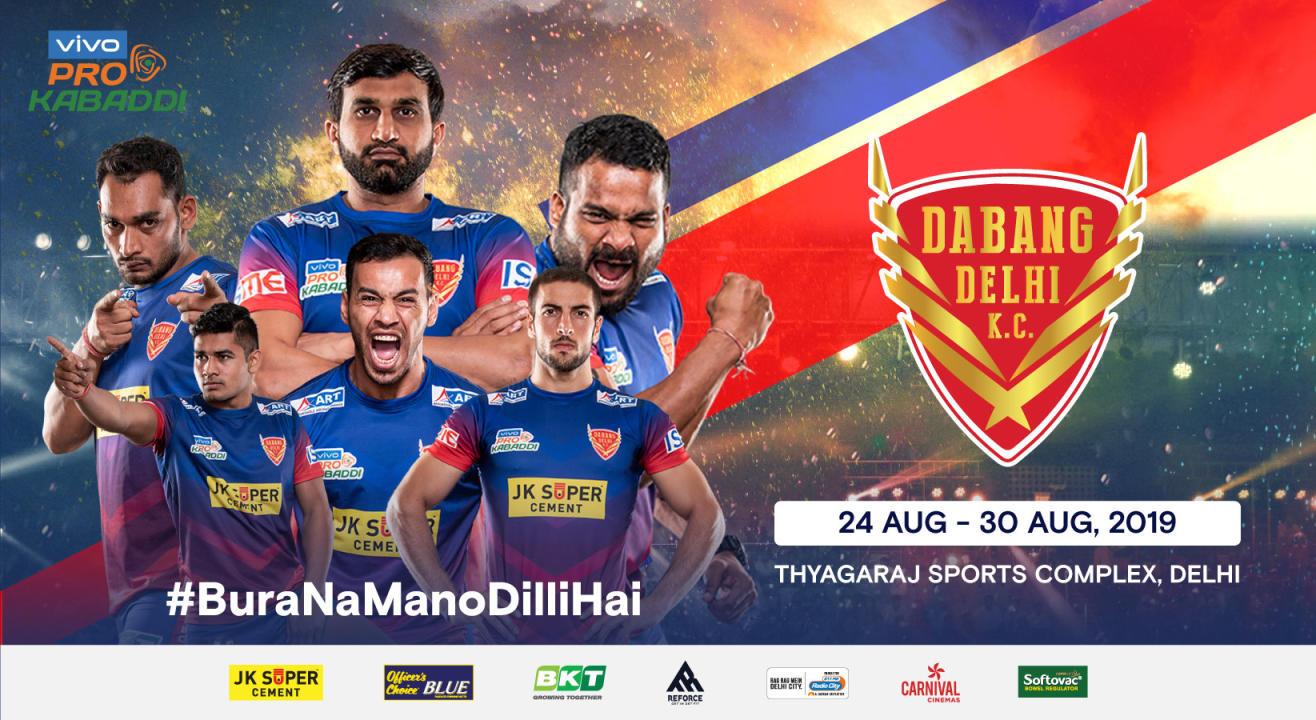 VIVO Pro Kabaddi 2019: Dabang Delhi K.C. Tickets, schedule, squad & more!