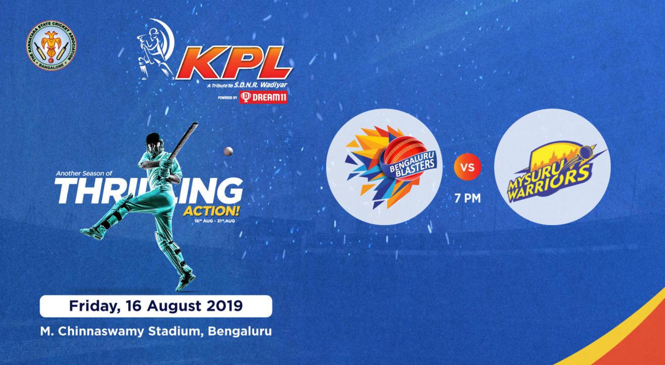 KPL 2019 | Bengaluru Blasters vs Mysuru Warriors