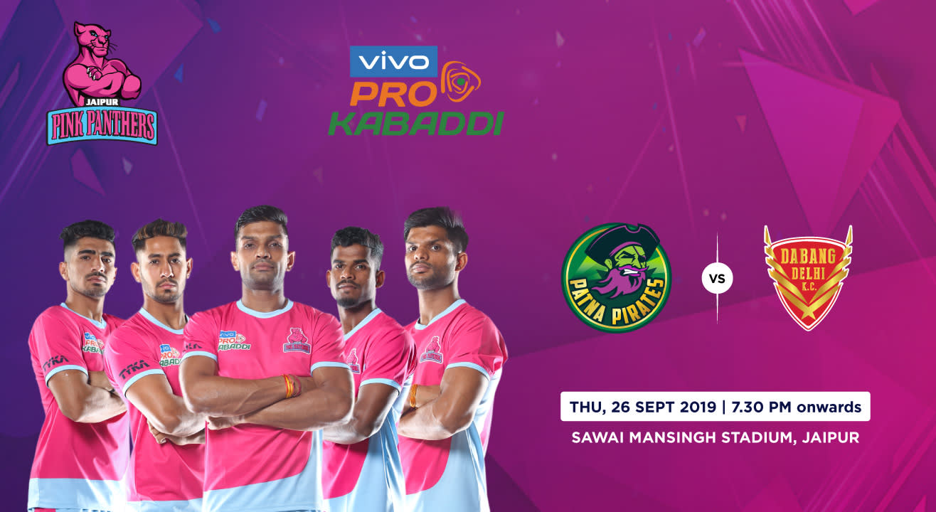 VIVO Pro Kabaddi 2019 - Patna Pirates vs Dabang Delhi K.C.