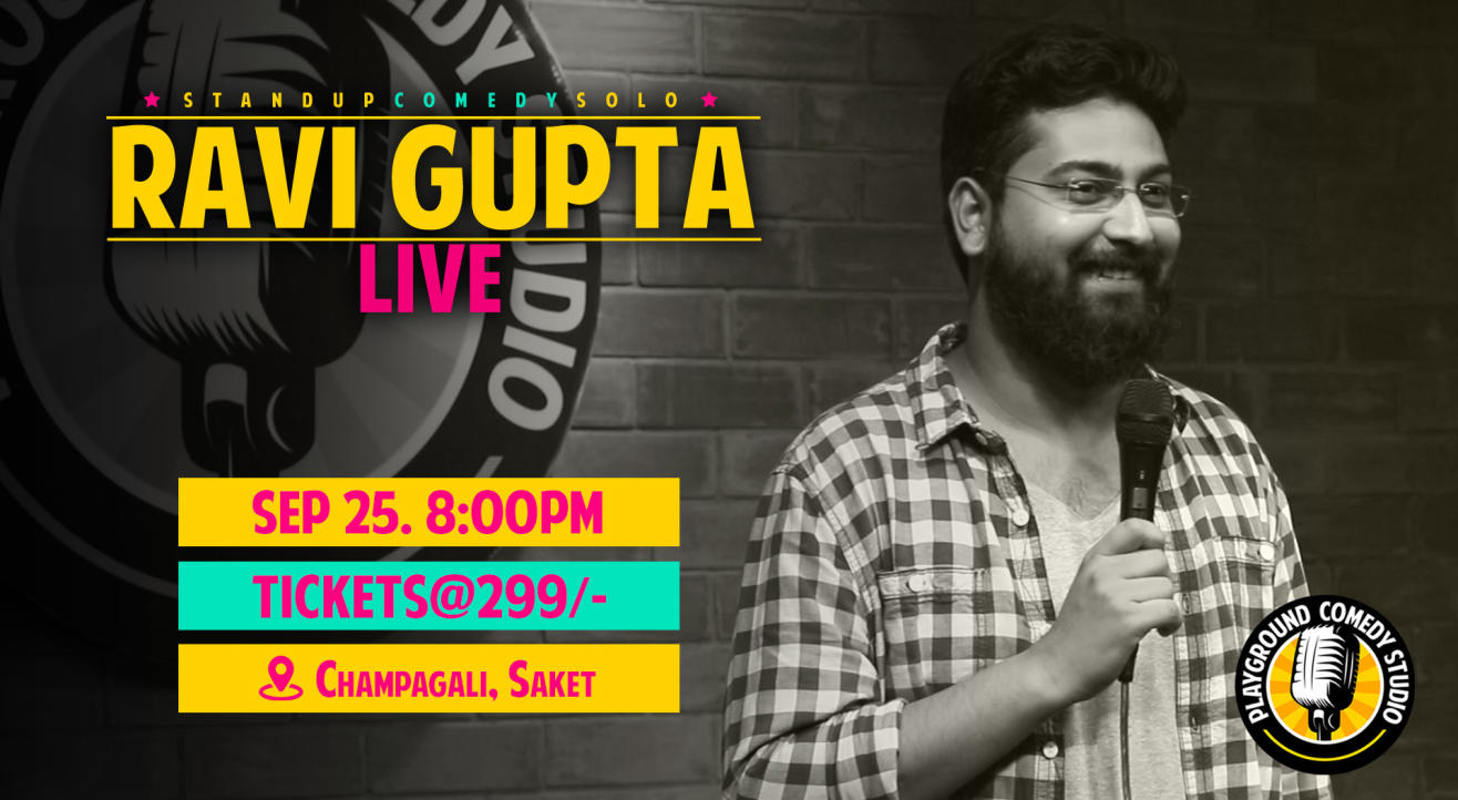 Ravi Gupta Live – Stand Up Comedy Solo