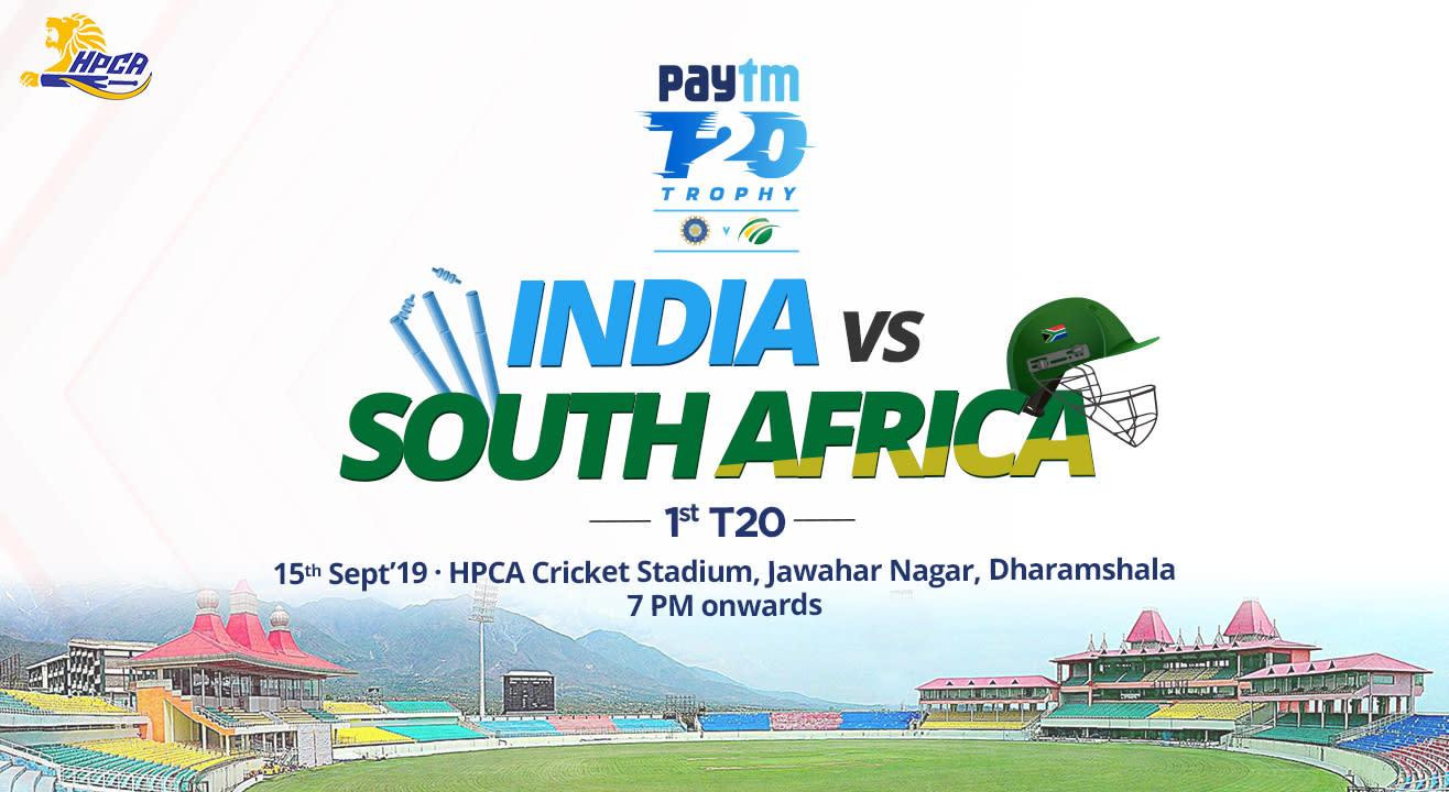Paytm Series 1st T20I: India vs South Africa, Dharamshala