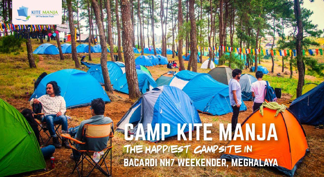 Camp KITE MANJA in Bacardi NH7 Weekender, Meghalaya