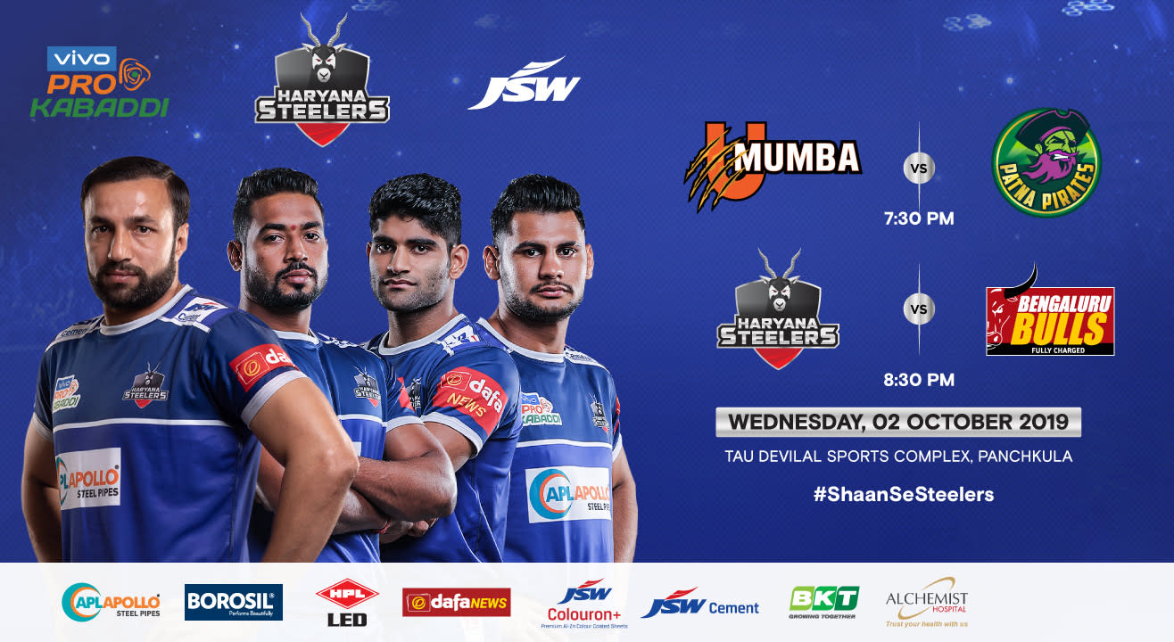 VIVO Pro Kabaddi 2019 - U Mumba v Patna Pirates and Haryana Steelers v Bengaluru Bulls