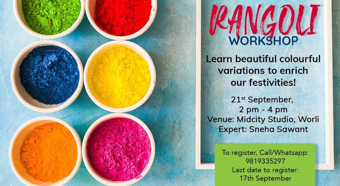 Rangoli workshop by MoveAhead
