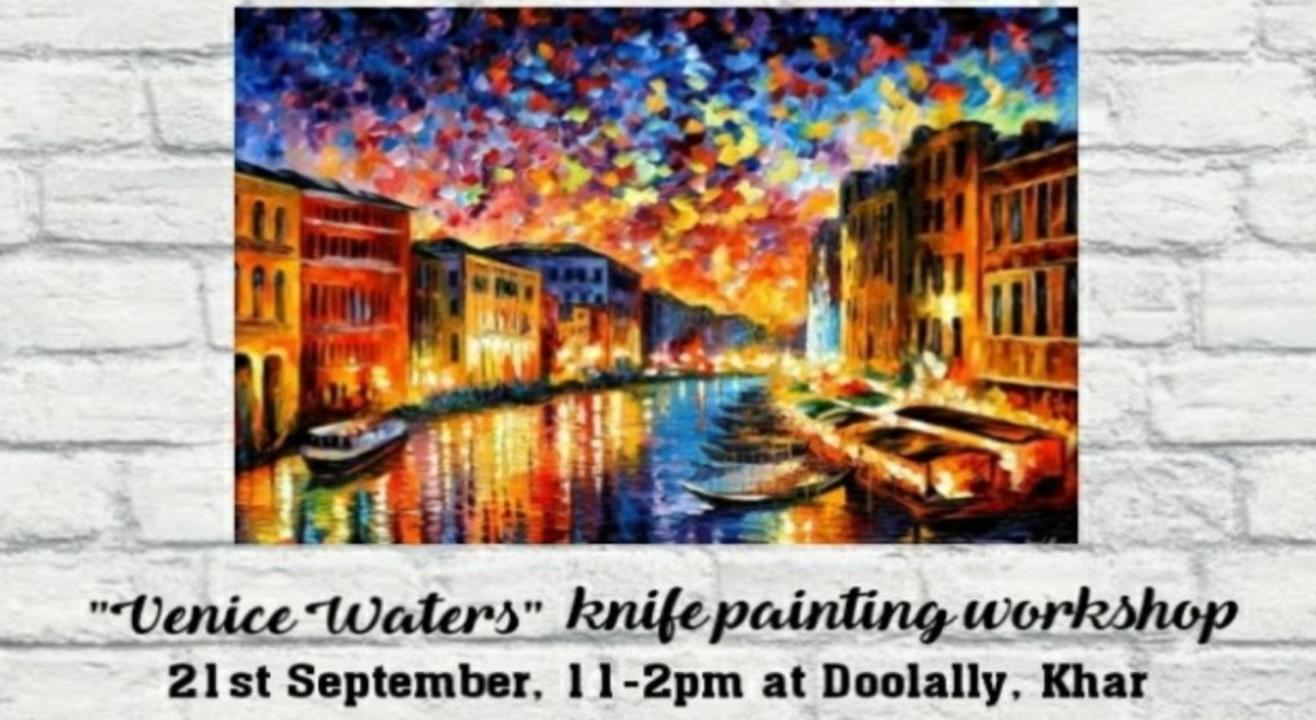Venice Water Knife Painting Workshop