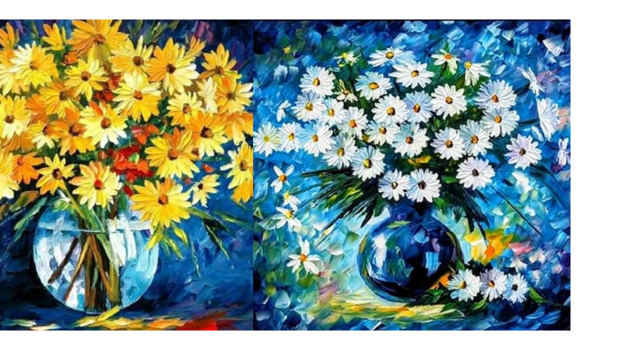 Daisies – Knife + Brush Painting Workshop- Hosted by Kamalrukh