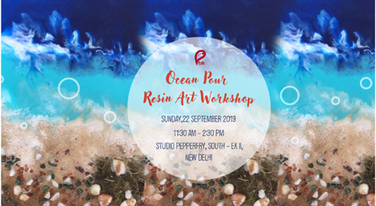 Ocean Pour Resin Art Workshop