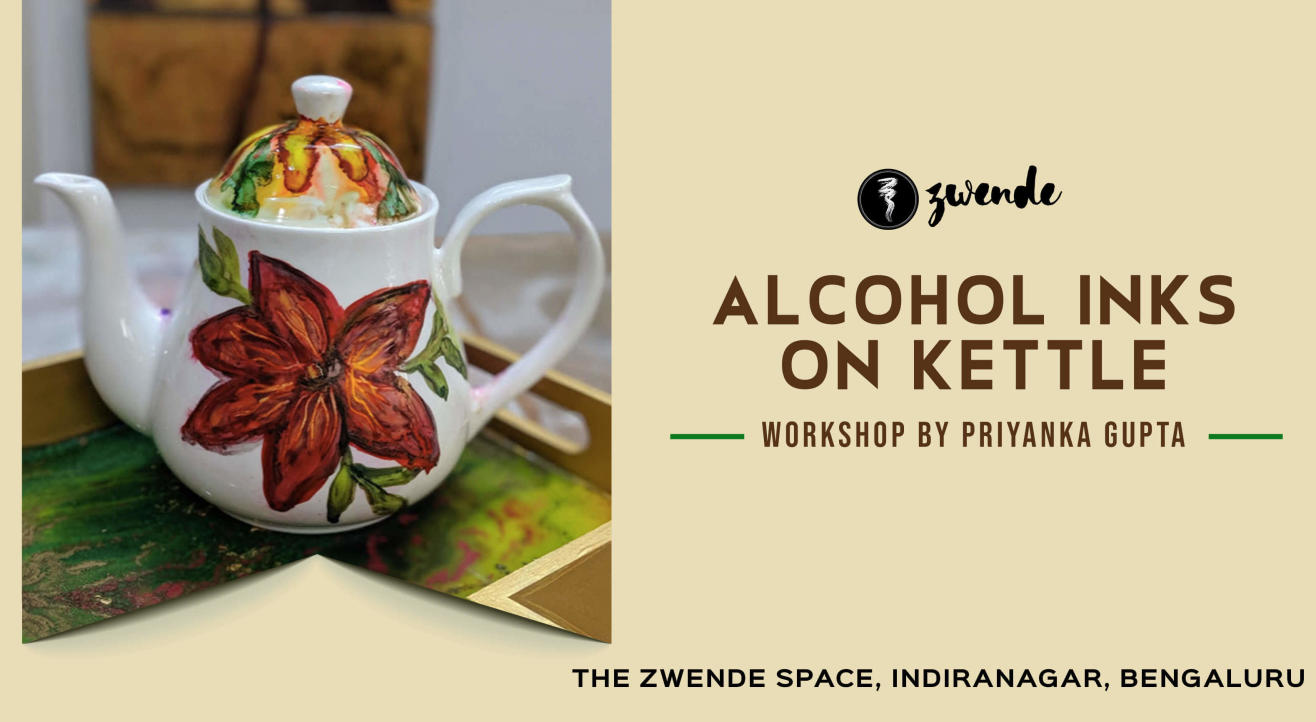 Alcohol Inks on Kettle by Priyanka Gupta