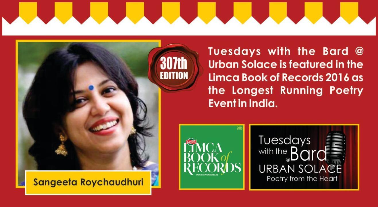Tuesdays with the Bard @ Urban Solace features Sangeeta Roychaudhuri