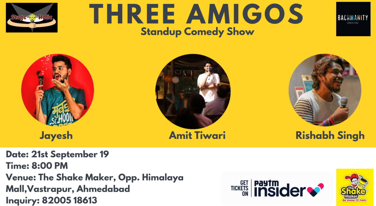 Three Amigos-Standup Comedy Show