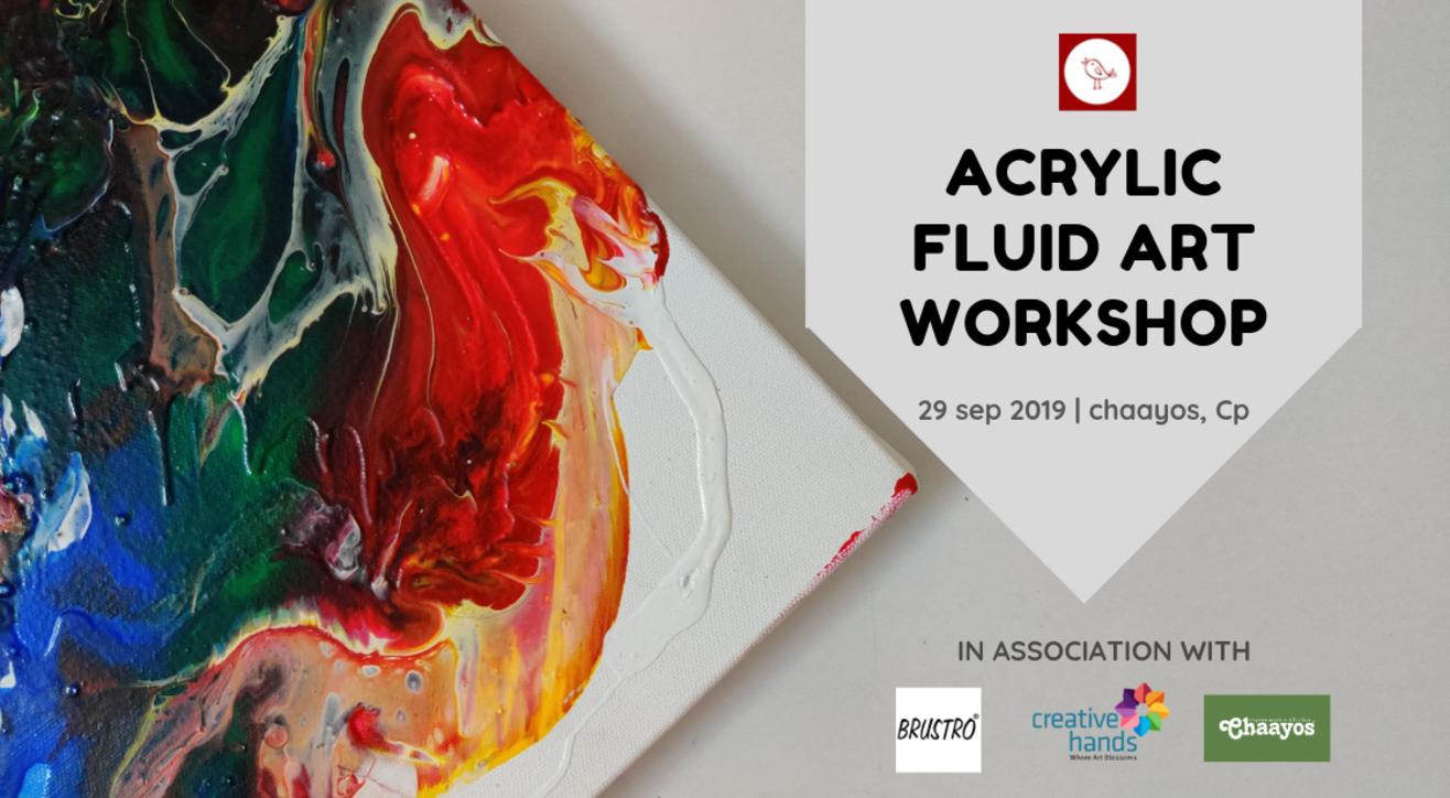 Acrylic fluid art workshop by Decor chidiya
