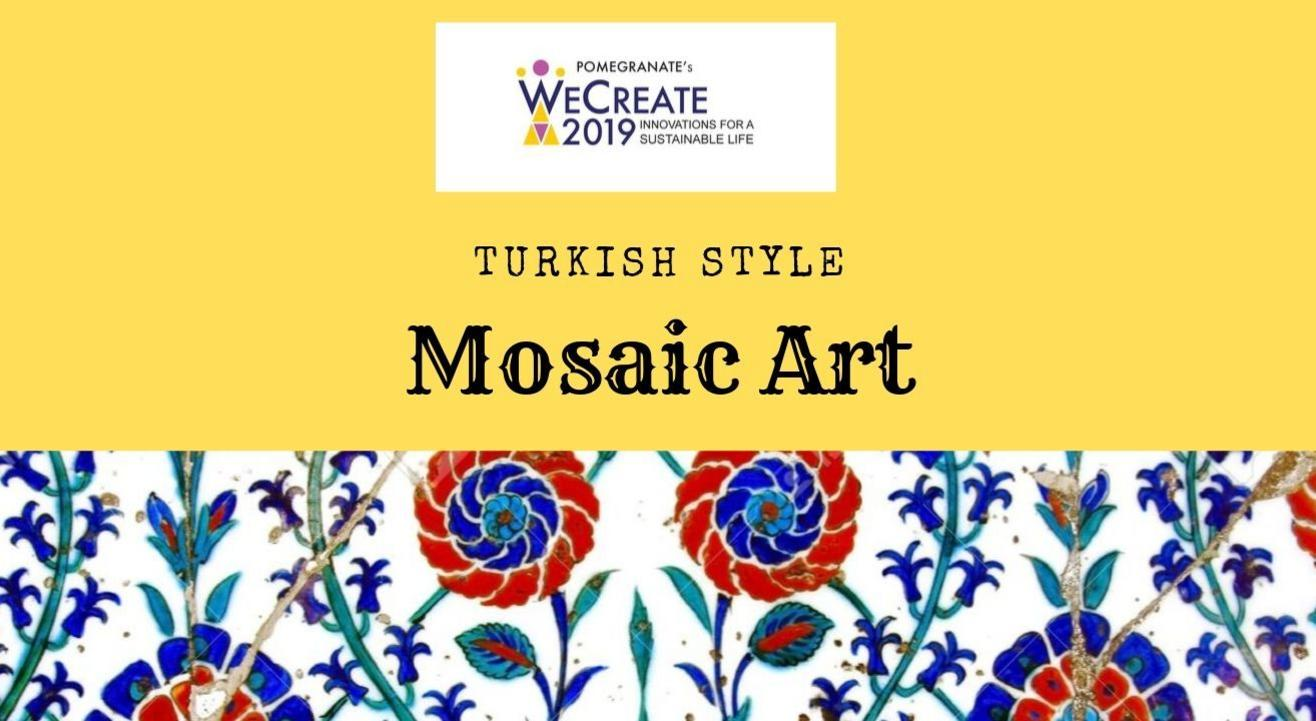 Turkish style Mosaic art with tiles