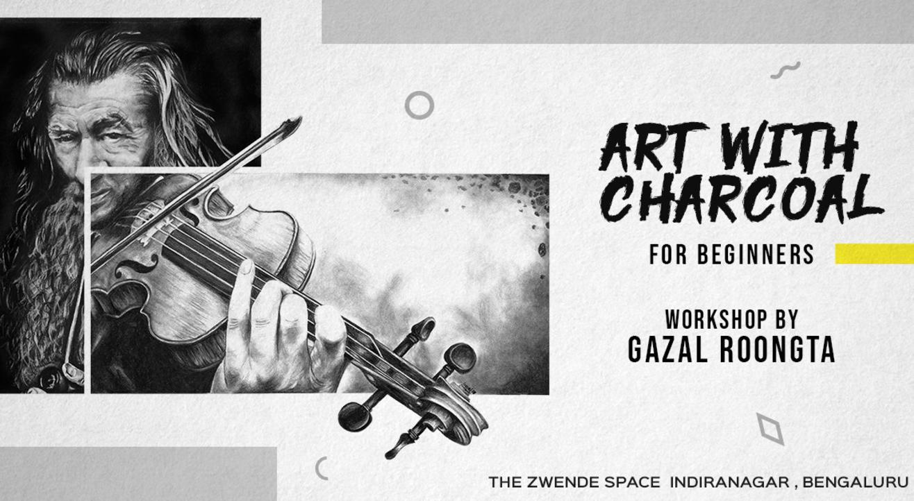 Charcoal Art for beginners by Gazal