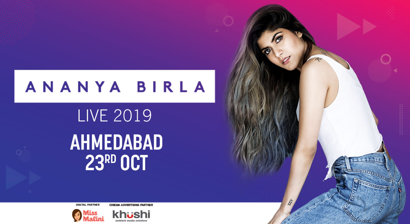 Ananya Birla India Tour 2019   Ahmedabad