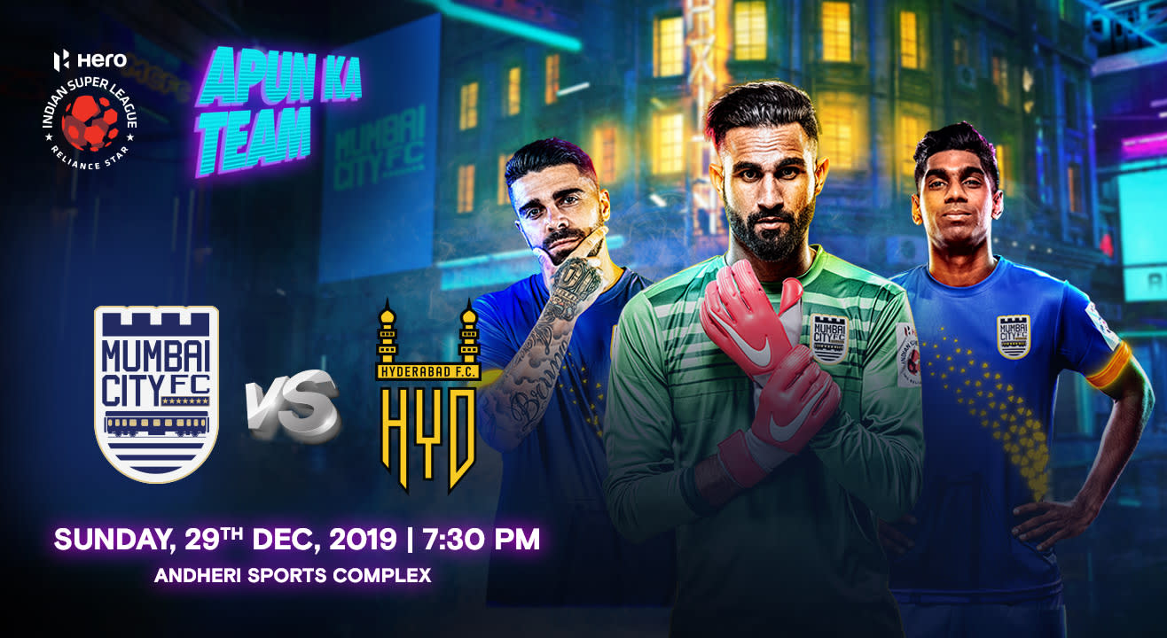 HERO Indian Super League 2019-20: Mumbai City FC vs Hyderabad FC