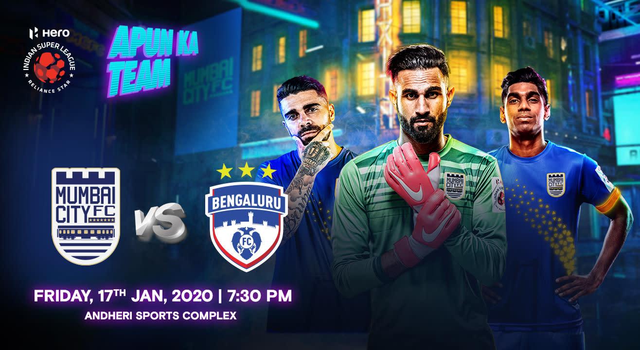 HERO Indian Super League 2019-20: Mumbai City FC vs Bengaluru FC