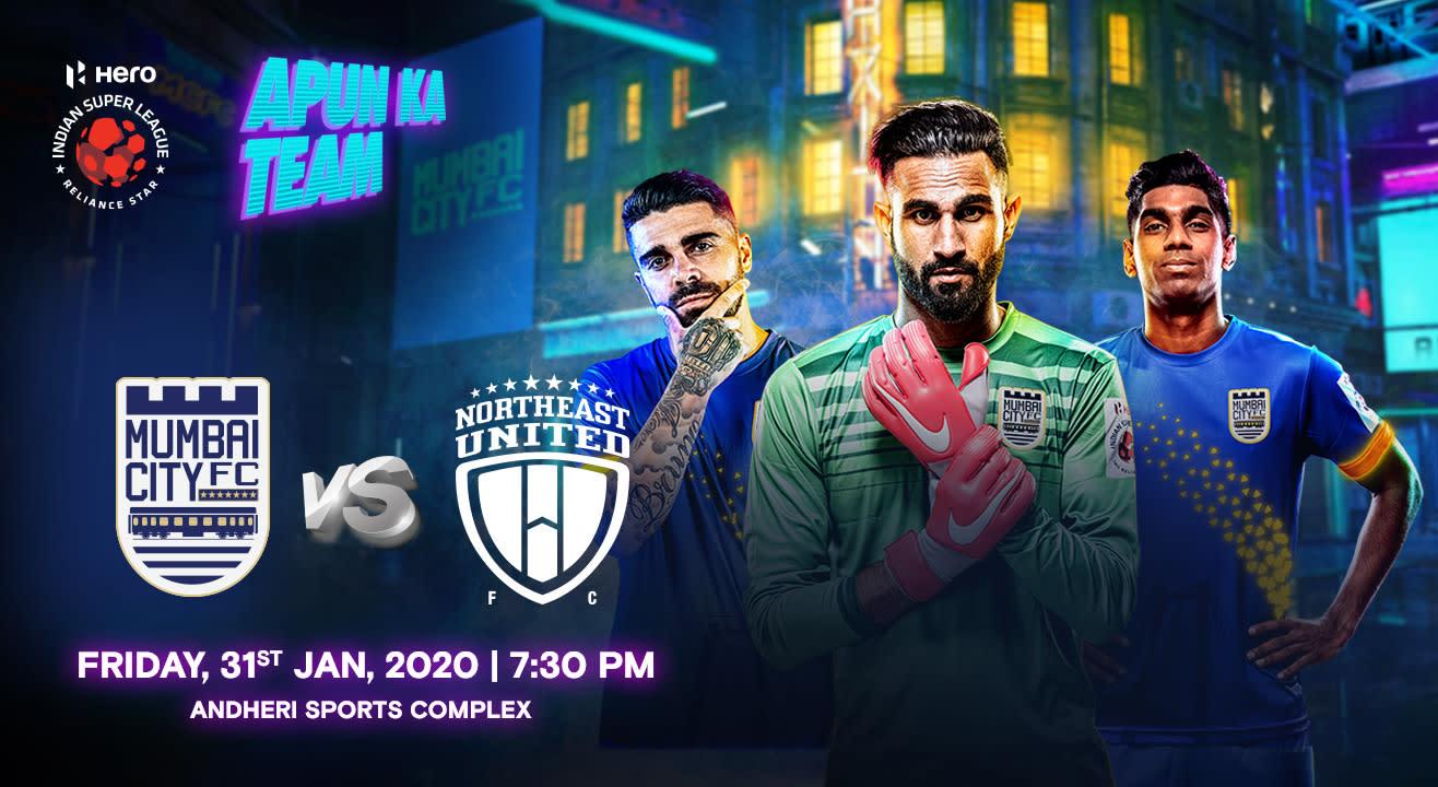 HERO Indian Super League 2019-20: Mumbai City FC vs NorthEast United FC