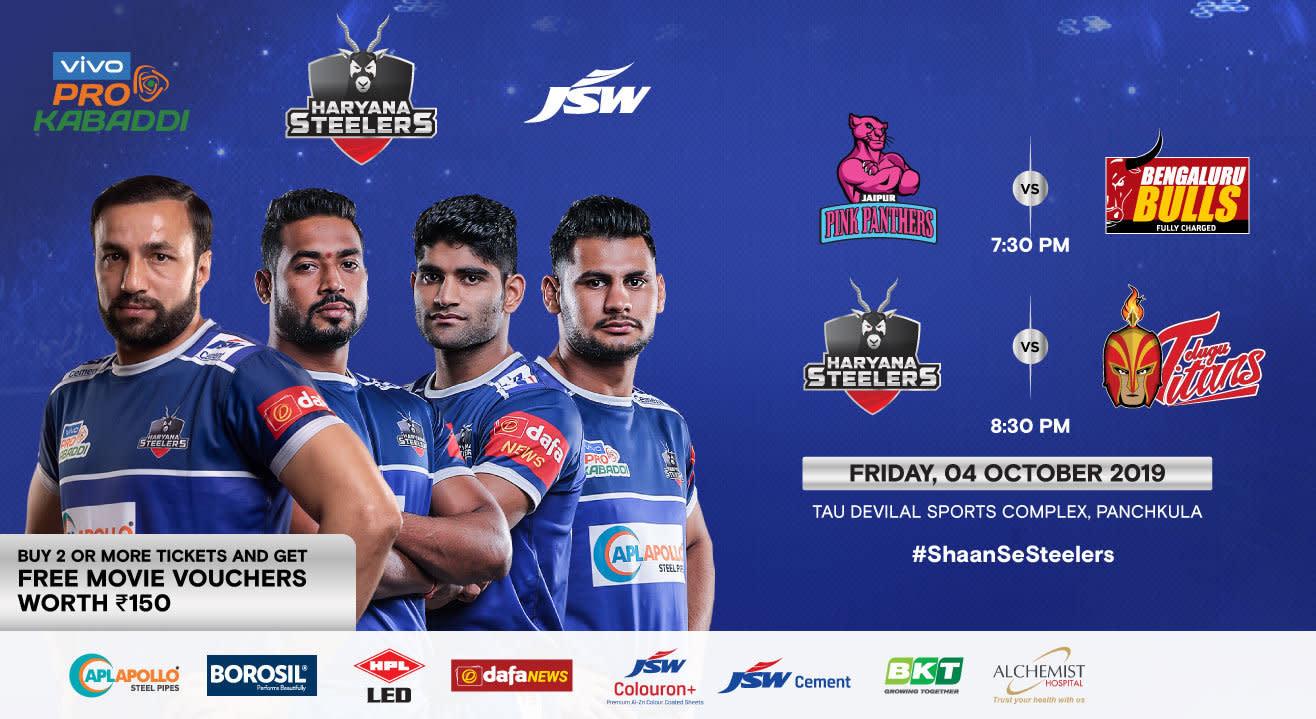 VIVO Pro Kabaddi 2019 - Jaipur Pink Panthers v Bengaluru Bulls and Haryana Steelers v Telugu Titans