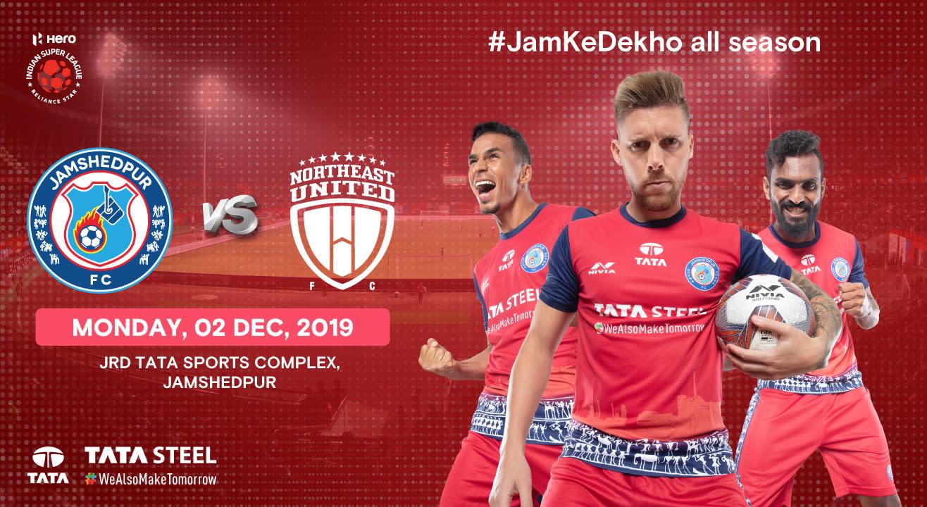 Hero Indian Super League 2019-20: Jamshedpur FC vs NorthEast United FC
