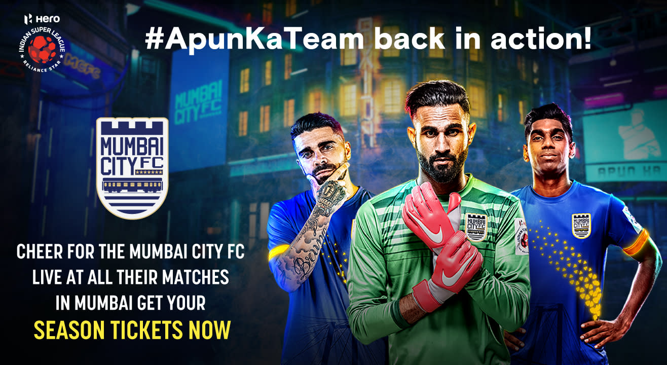 HERO Indian Super League 2019 - 20 Season Tickets: Mumbai City FC Home Matches