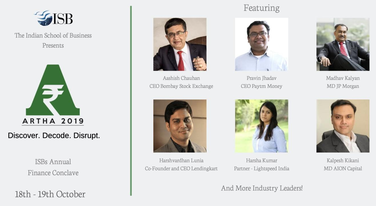 Artha 2019 - ISB's Annual Finance Conclave