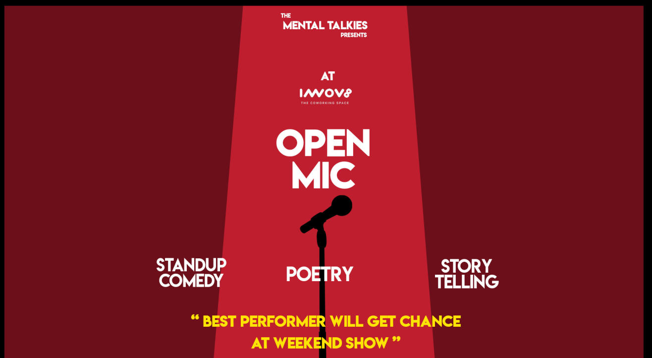 Open Mic-Stand up Comedy, Poetry, Storytelling