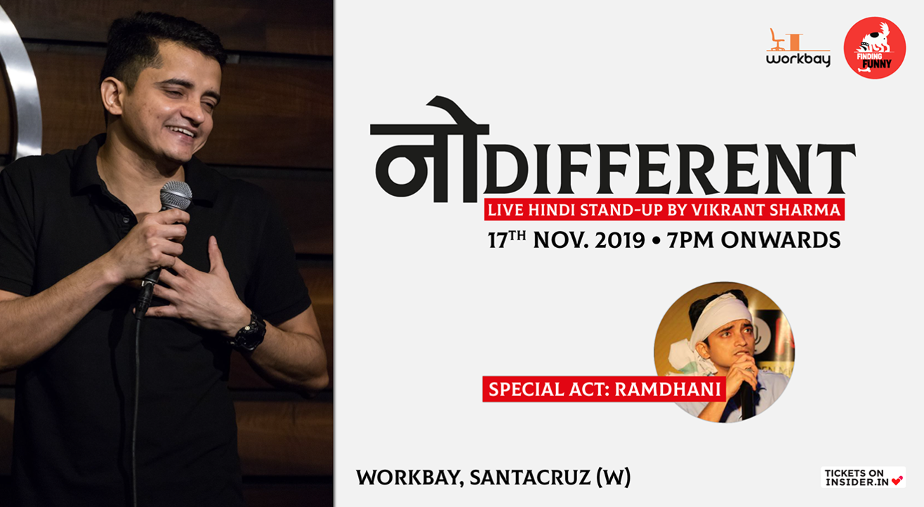 No Different: Live Hindi Stand-Up by Vikrant Sharma