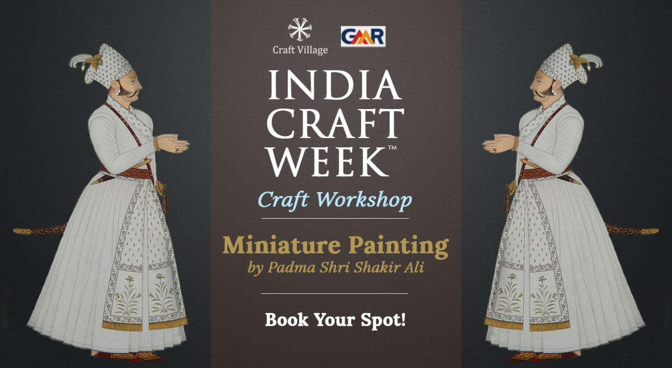 Miniature Painting Workshop   India Craft Week 2019
