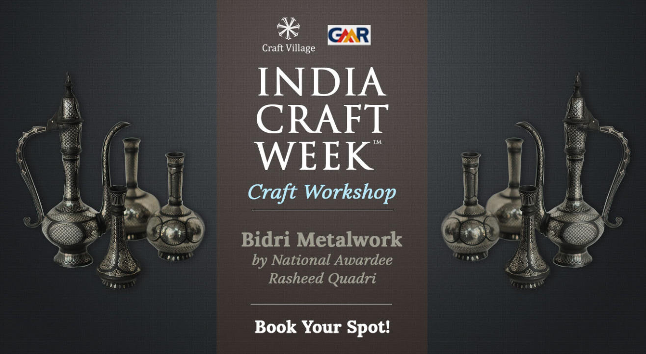 Bidri Metalwork Workshop | India Craft Week 2019