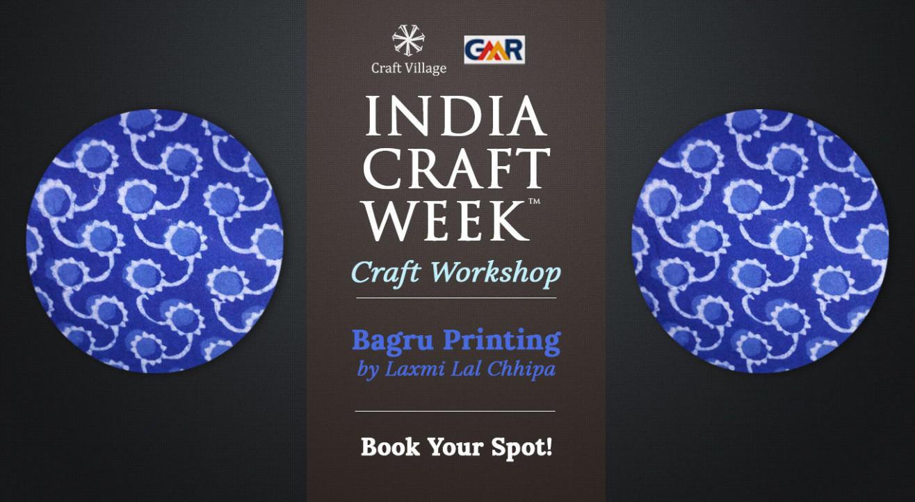 Bagru Block Printing Workshop | India Craft Week 2019