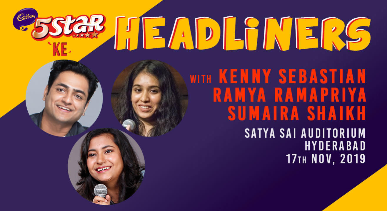 5 Star ke Headliners ft Kenny Sebastian, Ramya & Sumaira Shaikh | Hyderabad