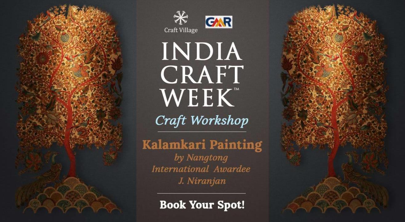 Kalamkari Painting Workshop | India Craft Week 2019
