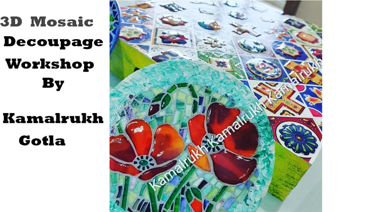 3D Decoupage Mosaic Workshop