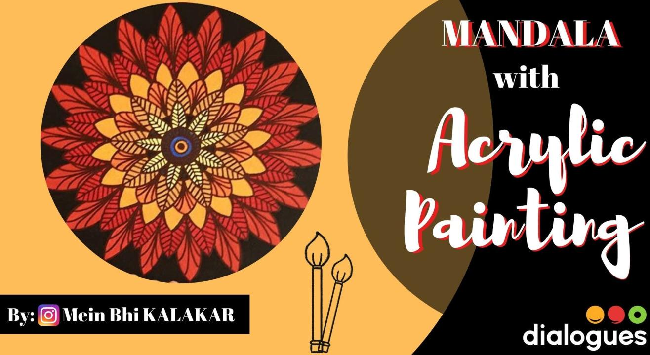 Mandala with Acrylic Painting Workshop (on round stretched canvas)